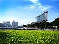 View of Marina Bay Sands from Marina Boulevard, Singapore - 20140401.jpg