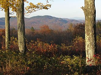 Ragged Mountain (New Hampshire) - Image: View of south face of Ragged Mountain (New Hampshire)