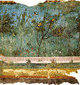 Villa di livia, affreschi di giardino, parete corta meridionale 02.jpg