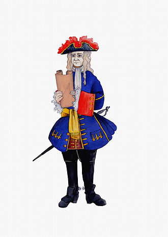 Antoni de Villarroel - Actual depiction of Villarroel with his full militar suit which he wore during 1713-1714 campaign as a chief of the Catalan army.