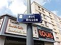 Villeurbanne - Rue Billon, plaque.jpg