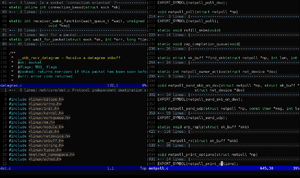 Vim (text editor) in a terminal emulator, with...