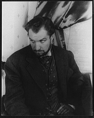Gas Light - Vincent Price on Broadway as Mr. Manningham in Angel Street, photographed by Carl Van Vechten, 1942