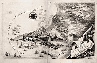 Koroni - Venetian map of Koroni shortly after its recovery during the Morean War (1686)