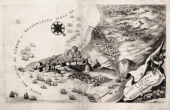 English: Map of Venetian fortress and city of ...