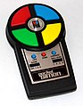 Vintage Pocket Simon Electronic Handheld Game by Milton Bradley, No. 4046, Copyright 1980, Made in the USA (8677934621).jpg