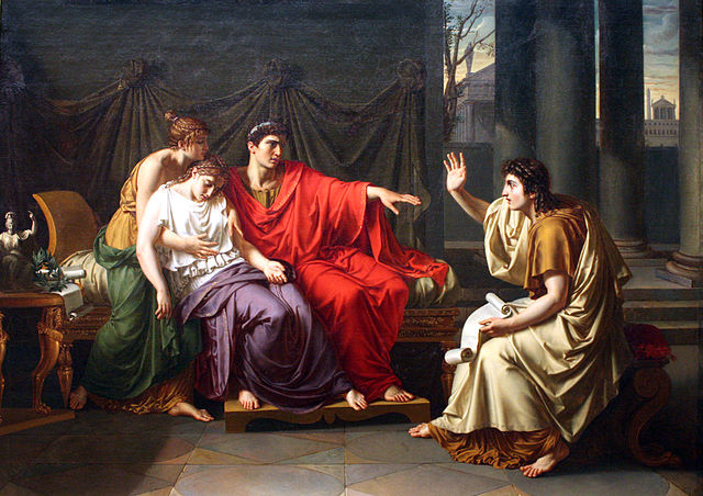 Virgil Reading the Aeneid to Augustus, Octavia and Livia by Jean-Baptiste Wicar, c. 1790-93 (Wikimedia Commons)