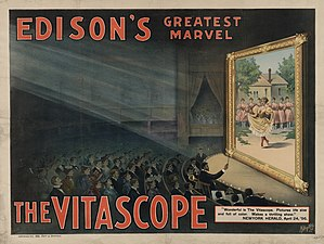 English: Edison Vitascope from LOC New York : ...