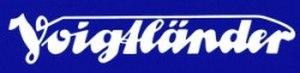 Voigtländer - Image: Voigtlaender logo blau