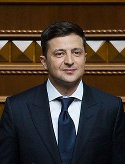 Volodymyr Zelensky 2019 presidential inauguration 05 (cropped).jpg