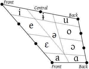 Vowel - Image: Vowel quadrilateral (IPA 1949)