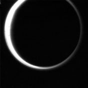 Titan occultation of the Sun from 0.9 million km