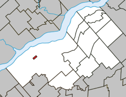 Location within Bécancour RCM.