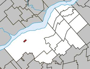 Wôlinak, Quebec - Image: Wôlinak Quebec location diagram