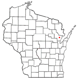 Location of Stiles, Wisconsin