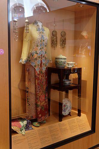 Peranakan - Kebaya Nyonya or Kebaya Encim, a traditional Peranakan attire.