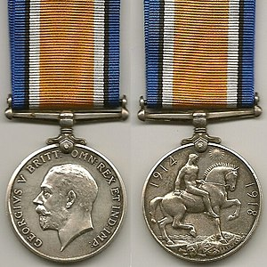 British War Medal - Image: WW1 British War Medal