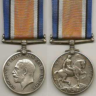 British War Medal - Image: WW1 British War Medal