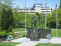 """Royal Canadian Naval Association Naval Memorial""(1995) by André Gauthier (sculptor) in Spencer Smith Park"