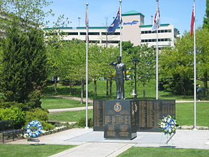 "Burlington, Ontario - ""Royal Canadian Naval Association Naval Memorial""(1995) by André Gauthier, Spencer Smith Park"