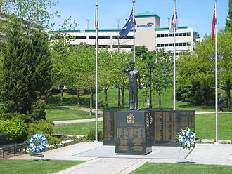 "Canadian Merchant Navy - ""Royal Canadian Naval Association Naval Memorial""(1995) by André Gauthier (sculptor) in Spencer Smith Park"