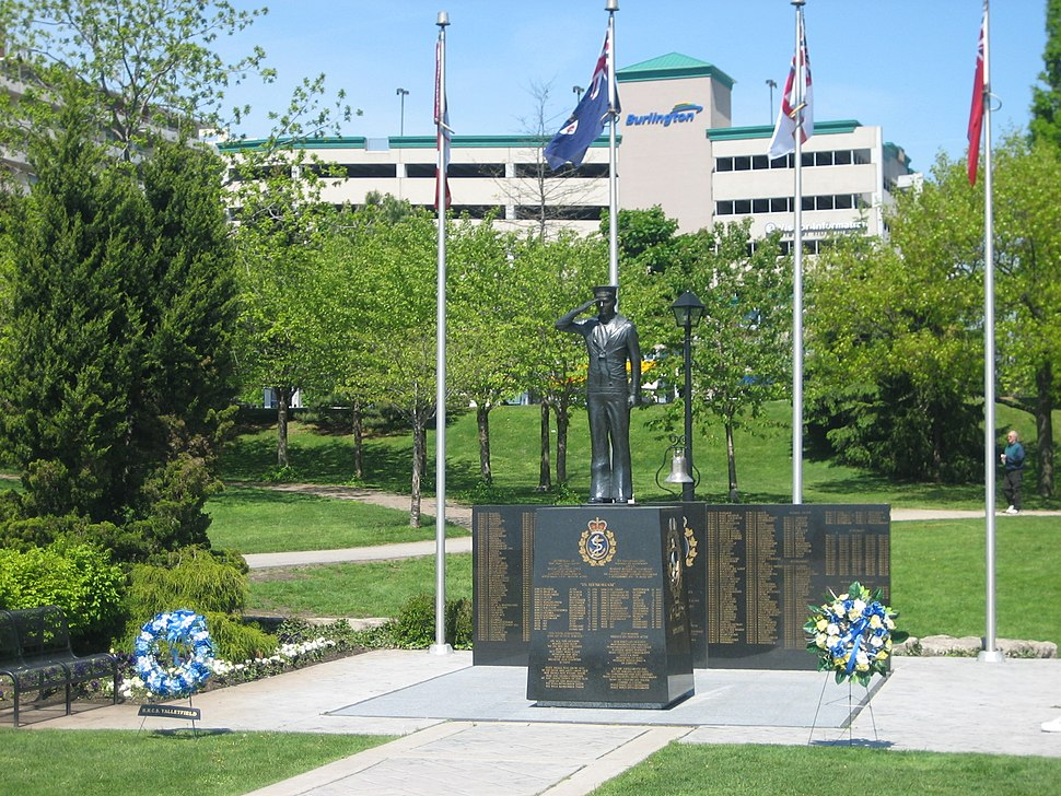 WWII Navy Memorial in Spencer Smith Park in Burlington, Ontario
