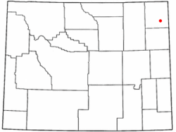 Location of Sundance, Wyoming