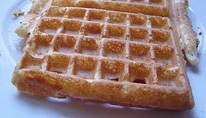 A belgian waffle.