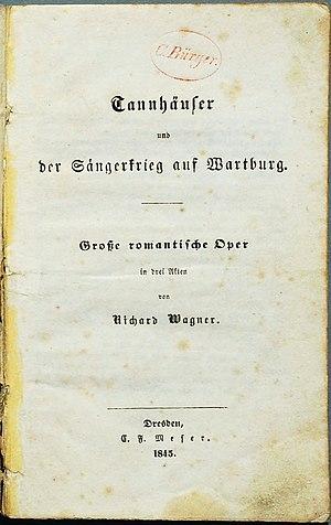 Tannhäuser (opera) - Libretto, Dresden 1845