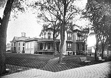 old photo of house and additions