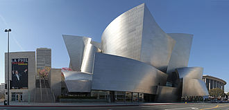 Stainless steel - Stainless steel cladding is used on the Walt Disney Concert Hall