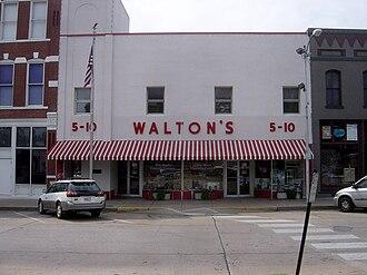 Sam Walton - Walton's Five and Dime, now the Walmart Visitors Center, Bentonville.
