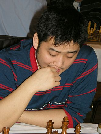 Wang Yue - Wang Yue at the 38th Chess Olympiad, November 2008 in Dresden, Germany
