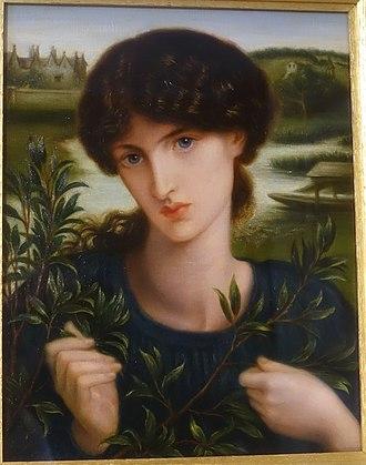 Water Willow (Rossetti) - Image: Water Willow by Dante Gabriel Rossetti, 1871, oil on canvas Kelmscott Manor Oxfordshire, England DSC00055