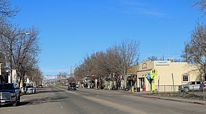 Wellington, Colorado - Looking west on Cleveland Avenue in Wellington.