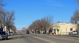 Wellington, Colorado - Looking west on Cleveland Avenue in Wellington.