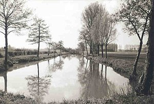 Siegfried Line - Water-filled trench near Geilenkirchen