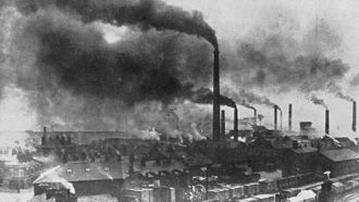 Widnes - Widnes during the late 19th century demonstrating the degree of pollution in the town