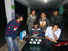Wikipedia Rajshahi community members are discussing.jpg