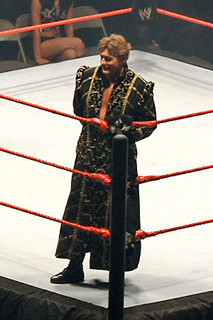 William Regal - Regal during his ring entrance wearing his traditional robe.