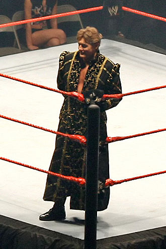 William Regal - Regal during his ring entrance wearing his traditional robe (pictured here in 2007)