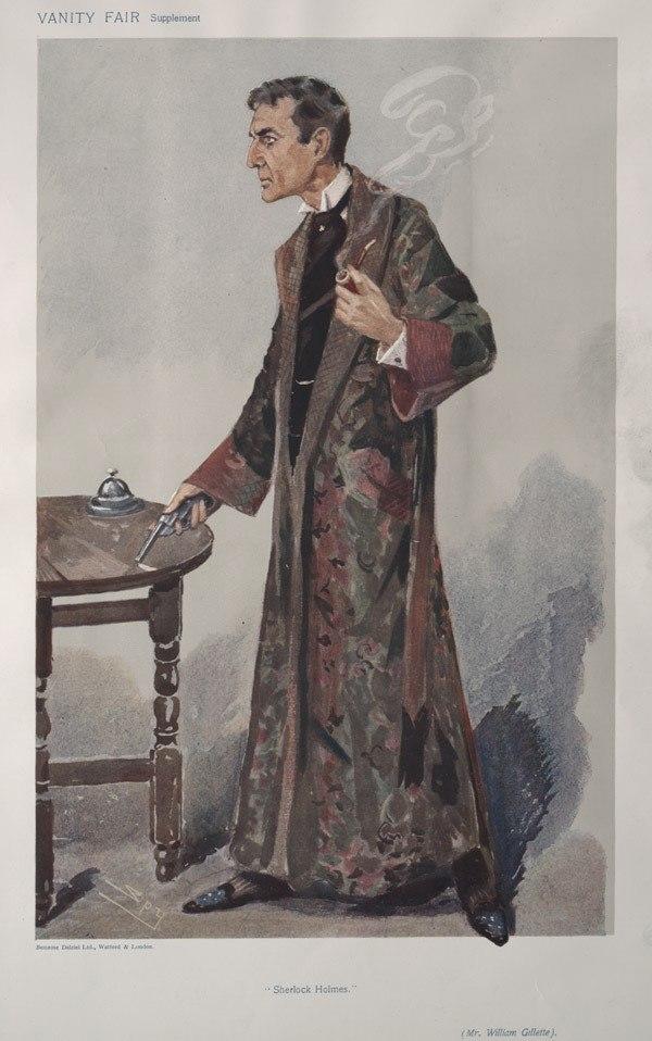 William Gillette, Vanity Fair, 1907-02-27