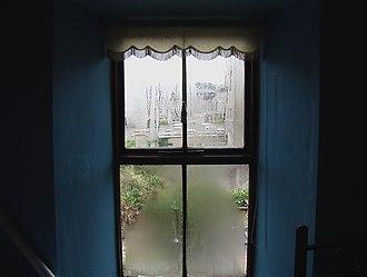 Condensation - Condensation on a window during a rain shower.