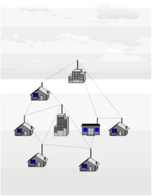 Схема ячеистой сети wi-fi.