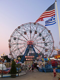 Denos Wonder Wheel Amusement Park Amusement park in Coney Island, Brooklyn, New York