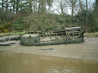 Little Island, Waterford - Wooden wreck; the remains of two wooden vessels lie on the west side of Little Island