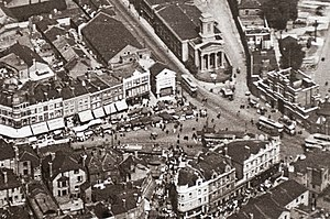 Beresford Square - Aerial photograph of 1921