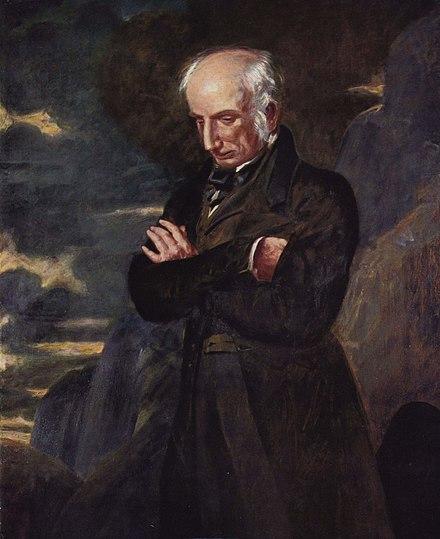 Wordsworth em retrato de 1842, por Benjamin Haydon