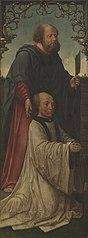 Saint Matthias (?) and a Donor; Saint Andrew (reverse)
