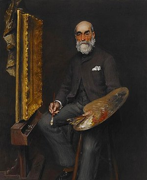 Worthington Whittredge - Portrait by William Merritt Chase, circa 1890